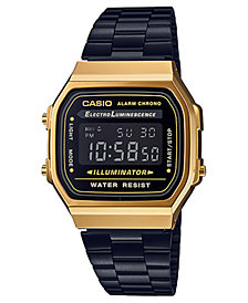 Casio Men's Digital Black Stainless Steel Bracelet Watch 36mm