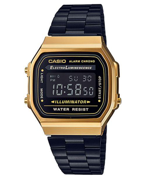 Casio Men s Digital Black Stainless Steel Bracelet Watch 36mm ... 6f34033e9659