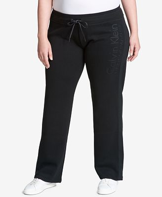 Calvin Klein Performance Plus Size Fleece Sweatpants