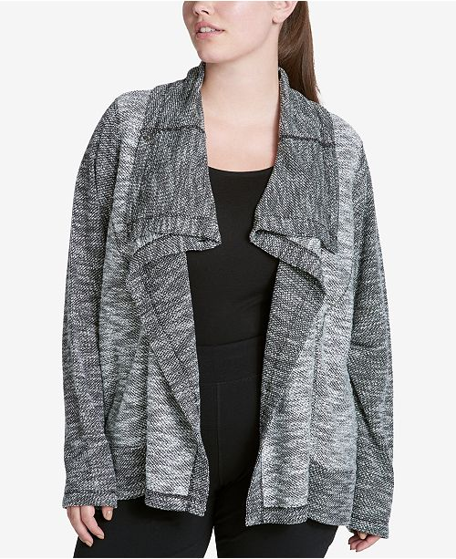 f8dfa74646a Calvin Klein Performance. Plus Size Draped Knit Jacket. 2 reviews. main  image  main image ...
