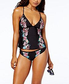 Lucky Brand Zen Garden Floral V-Neck Tankini Top & Bikini Briefs
