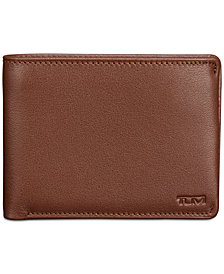 Tumi Men's Double Bifold Leather Wallet