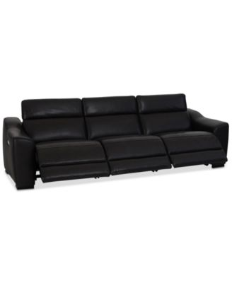 CLOSEOUT! Anniston 3-Pc. Leather Sectional with 3 Power Recliners and USB Power Outlet, Created For Macy's