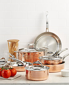Lagostina Martellata Tri-ply Copper 10-Pc. Cookware Set