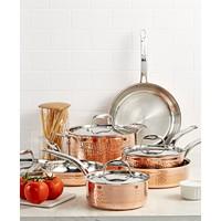 Lagostina Tri-ply Copper 10-Pc. Cookware + 3-Qt. Casserole w/Lid