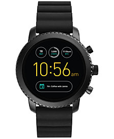 Fossil Q Men's Explorist Gen 3 Black Silicone Strap Touchscreen Smart Watch 46mm