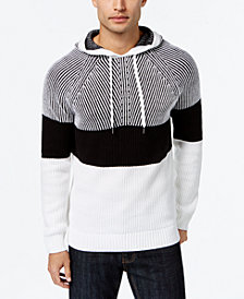 I.N.C. Men's Colorblocked Hooded Sweater, Created for Macy's