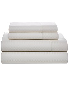 Painted Lattice Cotton 200-Thread Count Pair of King Pillowcases