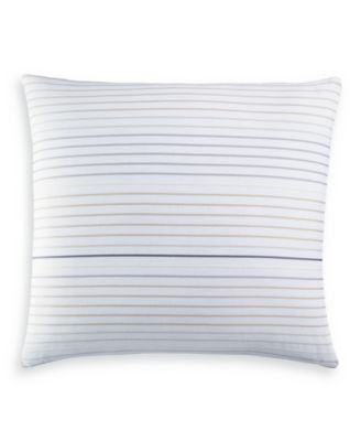 Woven Stripe Cotton European Sham, Created for Macy's
