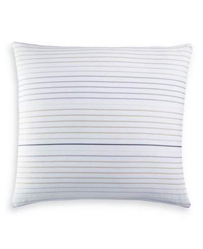 Charter Club Damask Designs Woven Stripe Cotton European Sham, Created for Macy's