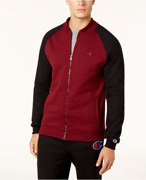 Champion Men's Powerblend Fleece Bomber Jacket, Created for Macys