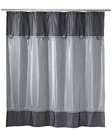 Avanti Braided Medallion Colorblocked Granite Shower Curtain