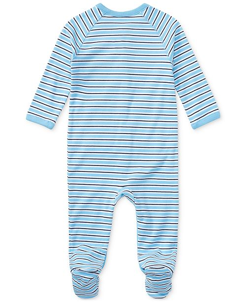025039c31bdd Polo Ralph Lauren Ralph Lauren Baby Boys Striped Footed Cotton Coverall ...