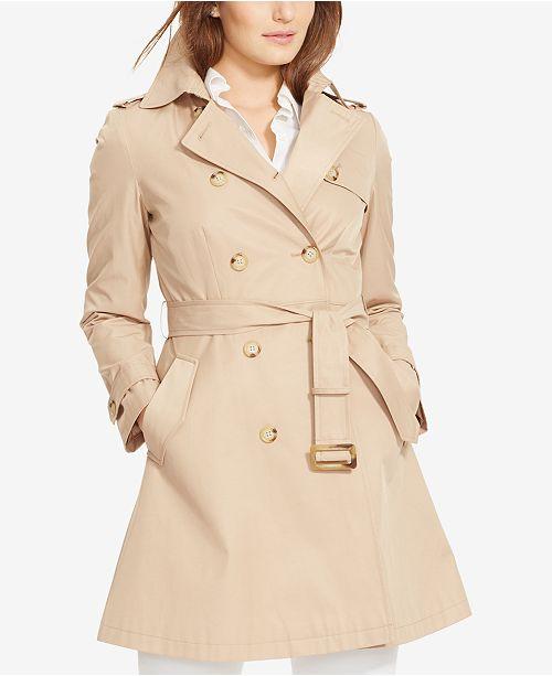 6f1d8fa5bba65 ... Lauren Ralph Lauren Plus Size Double-Breasted Trench Coat ...