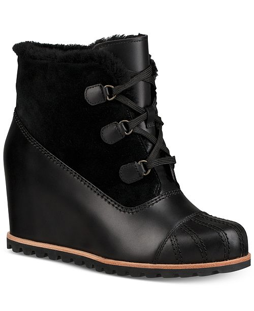 c883892a778 UGG® Women's Alasdair Wedge Ankle Booties & Reviews - Boots - Shoes ...