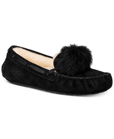 UGG® Women's Dakota Moccasin Pom Pom Slippers