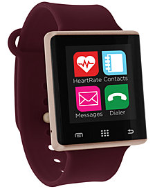iTouch Unisex Pulse Merlot Silicone Strap Smart Watch 41mm, Created for Macy's