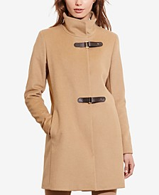Petite Buckle-Front Walker Coat, Created for Macy's