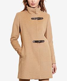 Lauren Ralph Lauren Petite Buckle-Front Coat