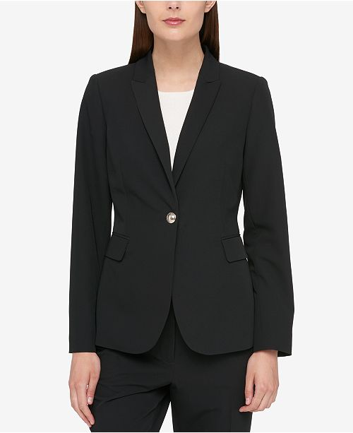 Tommy Hilfiger One-Button Blazer - Jackets   Blazers - Women - Macy s 0f08ddd5362c6