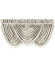 "J Queen New York Le Blanc 49"" x 33"" Waterfall Window Valance"