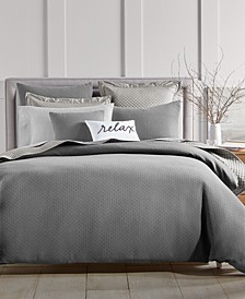 Diamond Dot Cotton 300-Thread Count 3-Pc. Full/Queen Duvet Cover Set, Created for Macy's