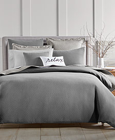 Charter Club Damask Designs Diamond Dot 300-Thread Count 3-Pc. Full/Queen Comforter Set, Created for Macy's