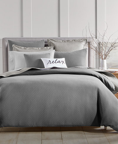 Charter Club Damask Designs Diamond Dot Comforter Sets, Created for Macy's