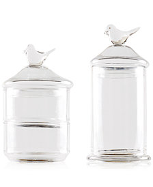 Madison Park Bird Top 2-Piece Glass Jars