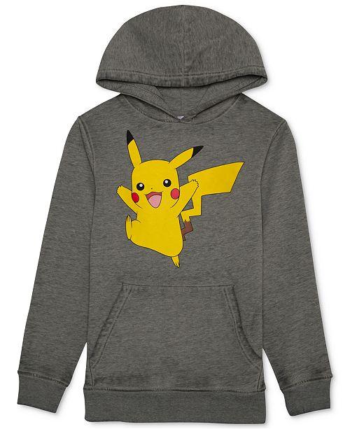 Pokemon Pokémon Pikachu Graphic-Print Hoodie, Big Boys