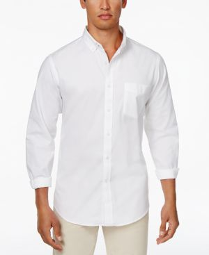 Club Room Men's Solid Stretch Oxford Cotton Shirt, Created for Macy's thumbnail