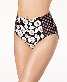 kate spade new york Aliso Beach Floral-Print High-Waist Bikini Bottoms