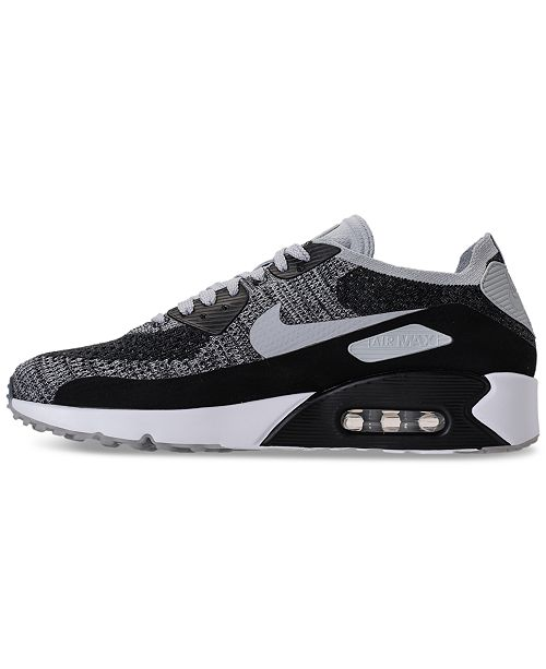 purchase cheap edee7 96e4b ... Nike Men s Air Max 90 Ultra 2.0 Flyknit Running Sneakers from Finish ...