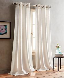 DKNY Bouclé Plaid Grommet Window Panel Pairs