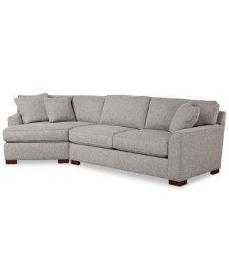 Carena 2-Pc. Fabric Sectional Sofa with Cuddler Chaise, Created for Macy's