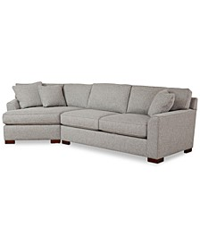 CLOSEOUT! Carena 2-Pc. Fabric Sectional Sofa with Cuddler Chaise, Created for Macy's