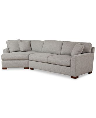 Carena 2 Pc Fabric Sectional Sofa With Cuddler Chaise Created For Macy S