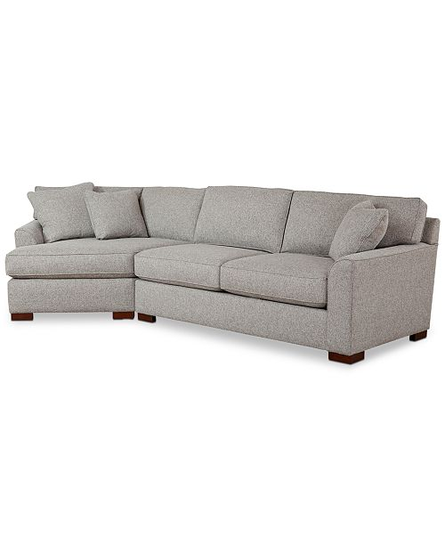 Furniture Carena 2 Pc Fabric Sectional Sofa With Cuddler