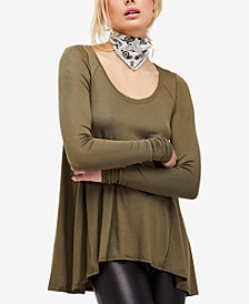 Free People January Ribbed Scoop-Neck T-Shirt