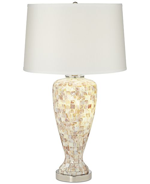Kathy Ireland Pacific Coast Mother Of Pearl Table Lamp