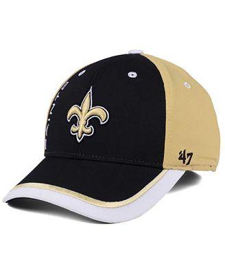 '47 Brand New Orleans Saints Crash Line Contender Flex Cap