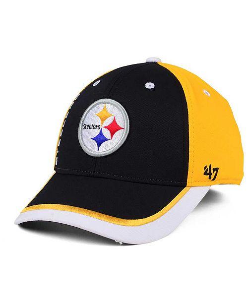 wholesale dealer 1f3c3 e9c2b ...  47 Brand Pittsburgh Steelers Crash Line Contender Flex Cap    ...