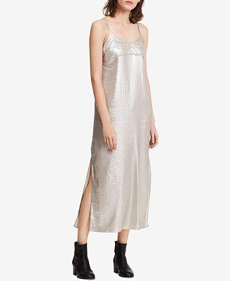 Calvin Klein Jeans Metallic Midi Slip Dress