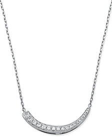 Diamond Journey Pendant Necklace (1/4 ct. t.w.) in 14k White Gold