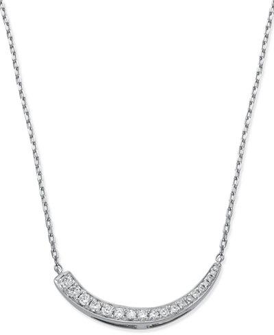 Diamond Journey Pendant Necklace (1/4 ct. t.w.) in 14k White Gold
