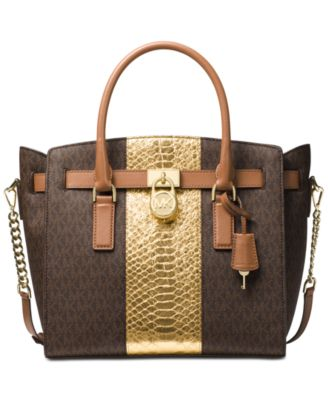michael kors hamilton large east west satchel handbags rh macys com