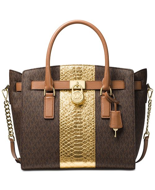 ba7f1ea8f5ebe Michael Kors Hamilton Large East West Satchel   Reviews - Handbags ...