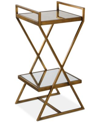 Elling Golden Bronze Accent Table, Quick Ship