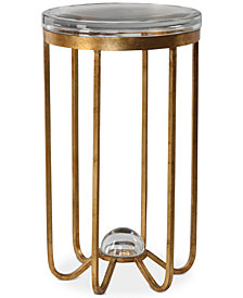 Allura Gold Accent Table, Quick Ship