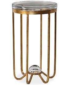 Allura Gold Accent Table, Quick Ship